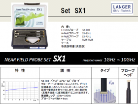 Langer社SX1近磁界プローブ10GHz